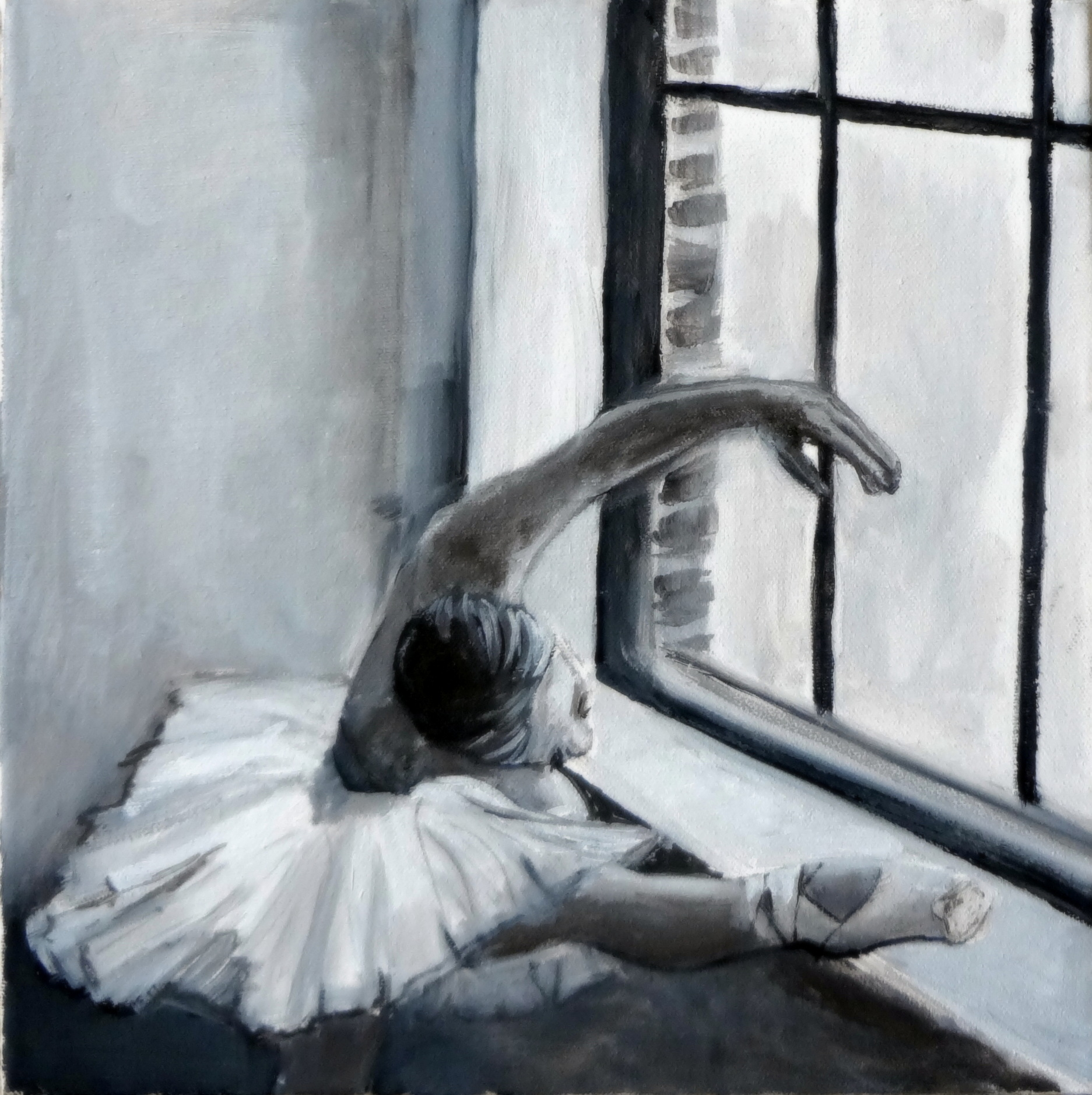 Black White And Gray Paintings Weekly Painting Week 15 Value Scale Tonal Painting