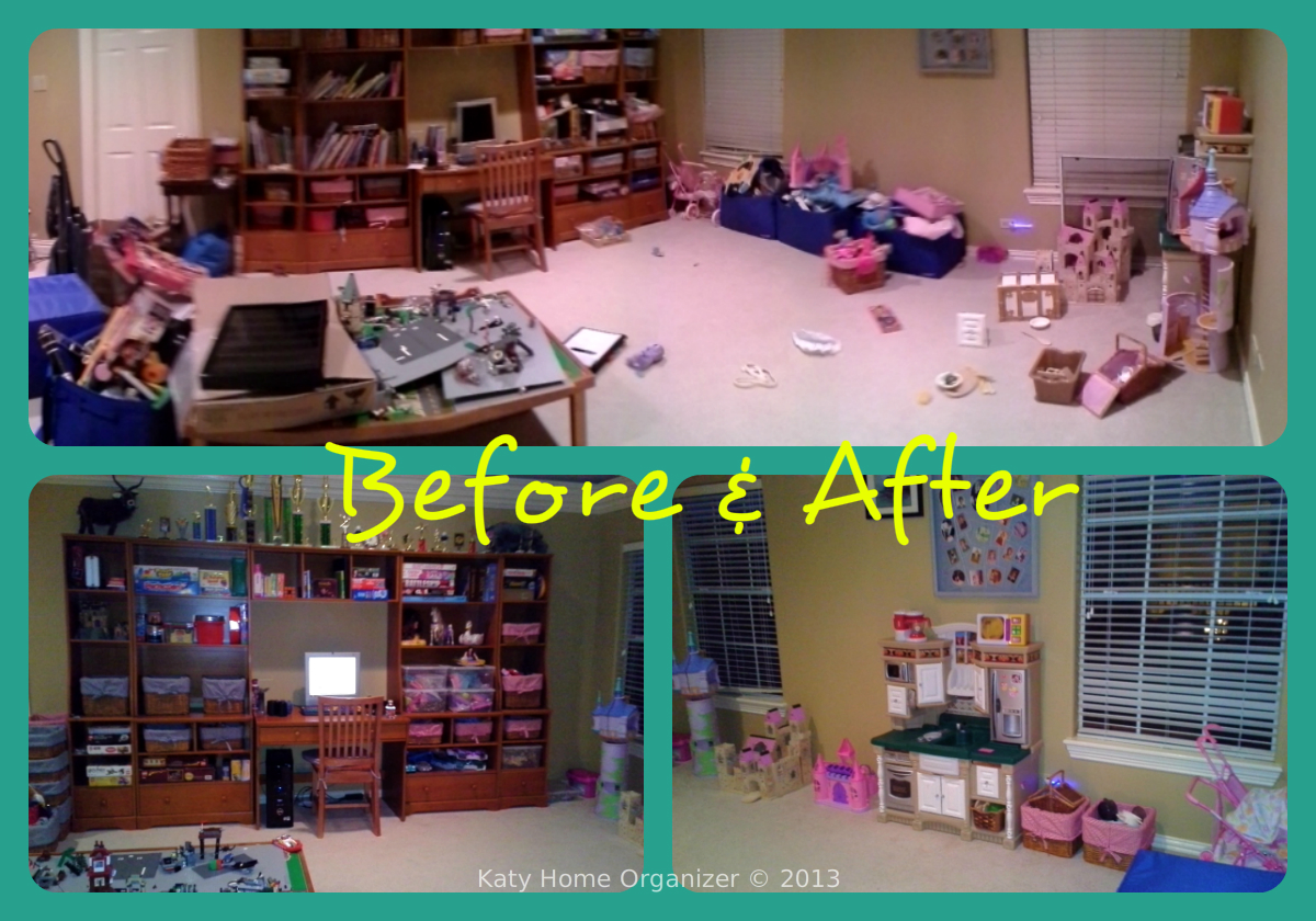 Playroom Organization Before & After Pics