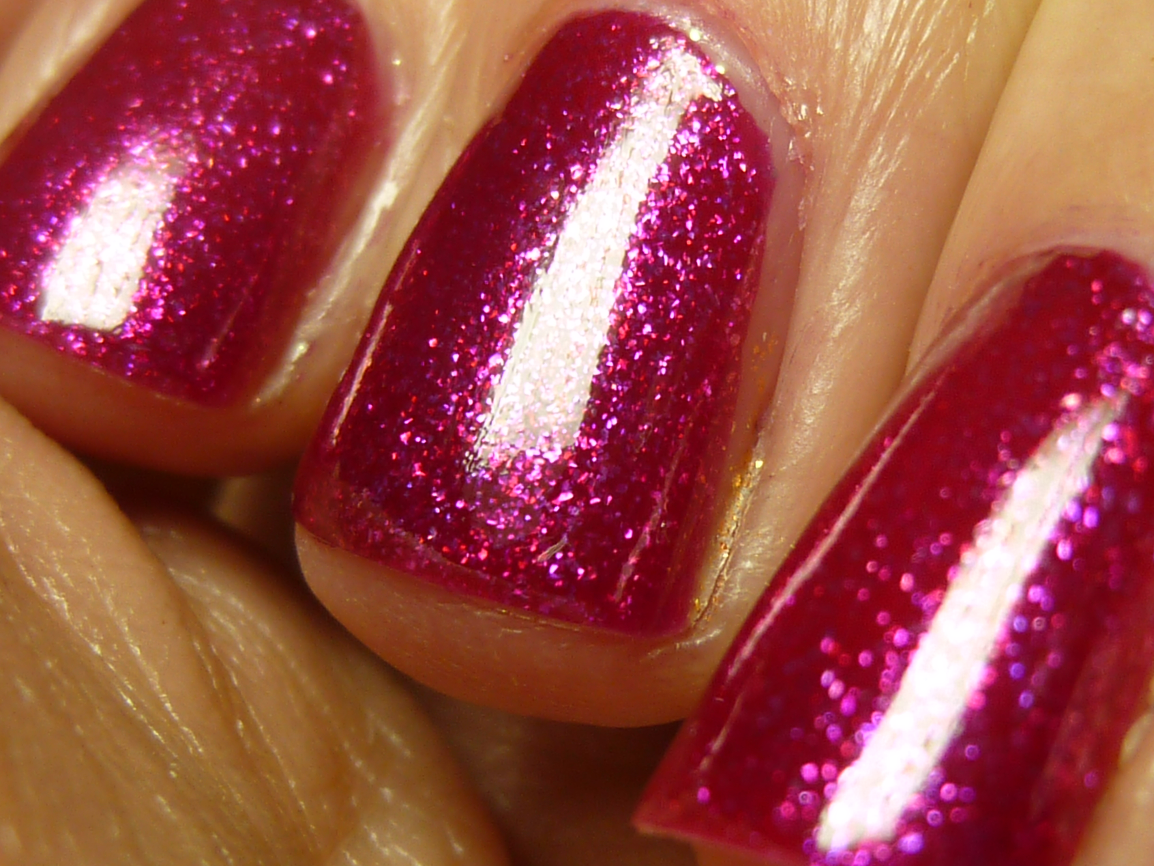 Today39s Nails Opi Pink Glitter The Lovecats Inc