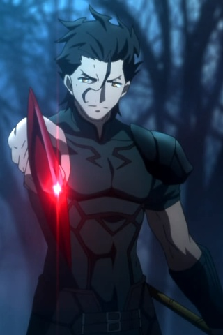 Anime Ipod Wallpapers Fate Zero Lancer Diarmuid Ua Duibhne 320x480