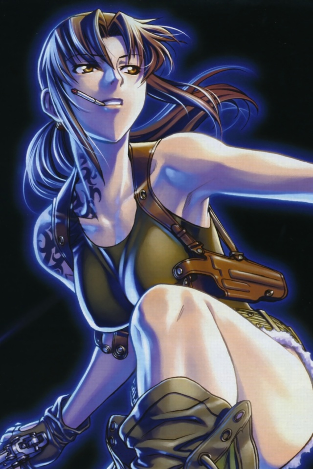Black Lagoon Iphone X Wallpaper Black Lagoon Revy 640 215 960 4 Kawaii Mobile