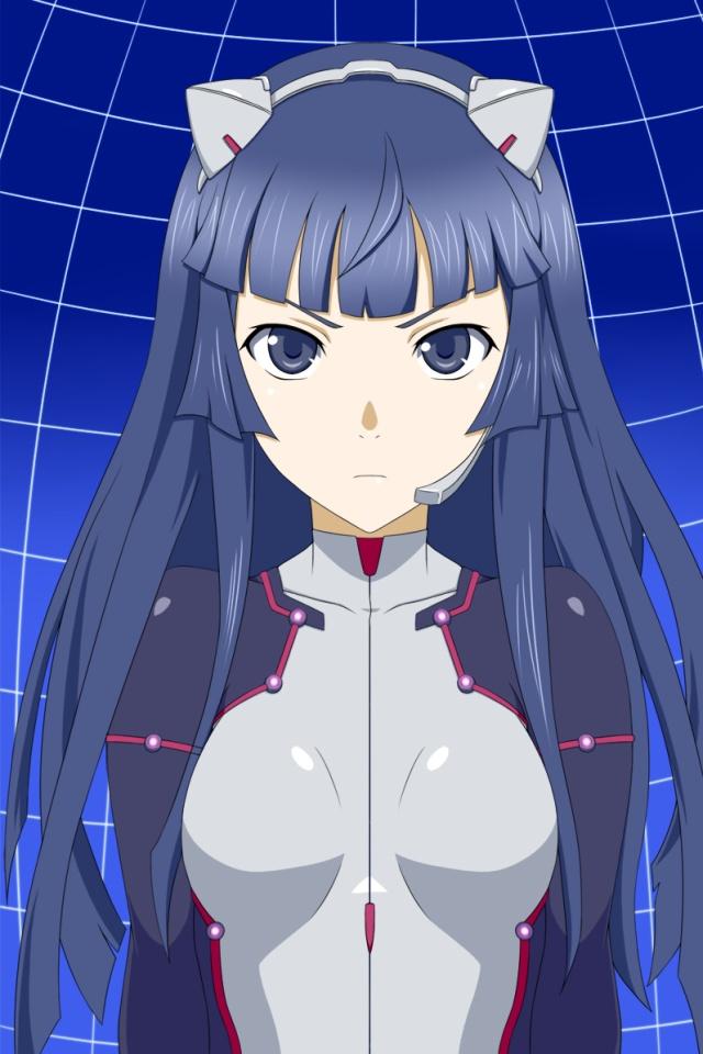 Kawaii Animae Girl Wallpaper Guilty Crown Tsugumi 640x960 4