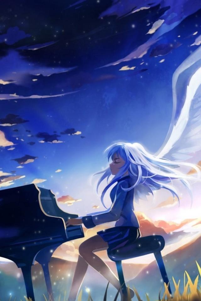 Gamer Girl Wallpaper Anime Angel Beats Kanade Tachibana 640x960 14