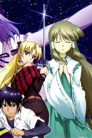 Wallpaper Anime Iphone X Campione Godou Kusanagi Erica Blandelli Yuri Mariya 320x480
