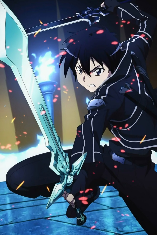 Liquid Live Wallpaper Iphone X Sword Art Online Kirito Iphone 4 Wallpaper 640x960 2