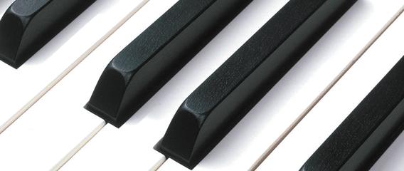Marfil sintético en las teclas
