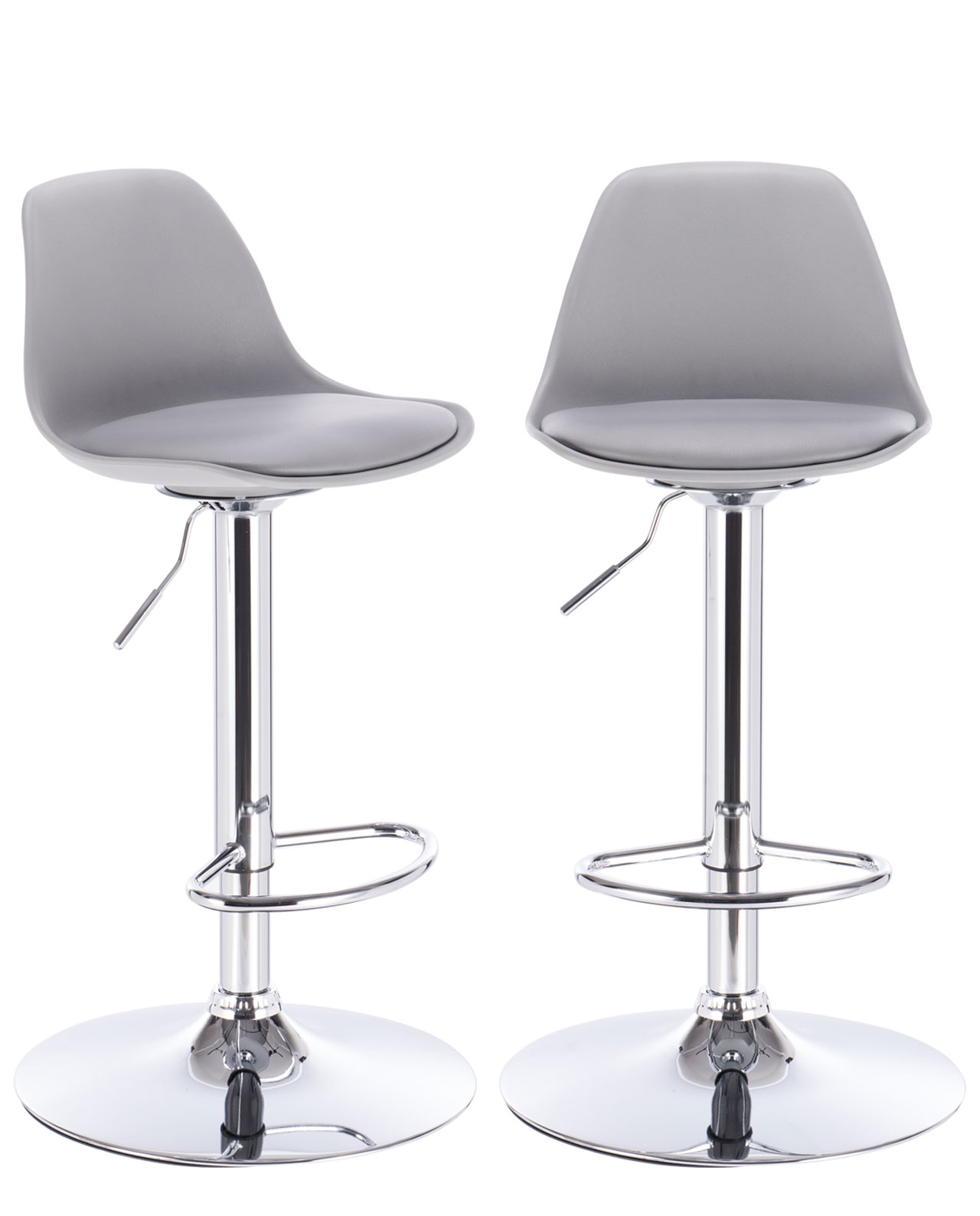 Tabouret De Bar Gris Clair Sig Lot De 2 Tabourets De Bar Design