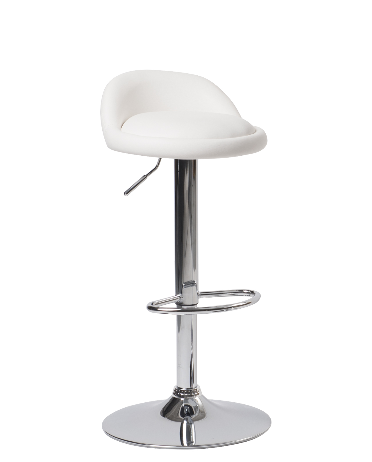 Tabouret De Bar Simili Cuir Chrome Sati Lot De 2 Kayelles Com