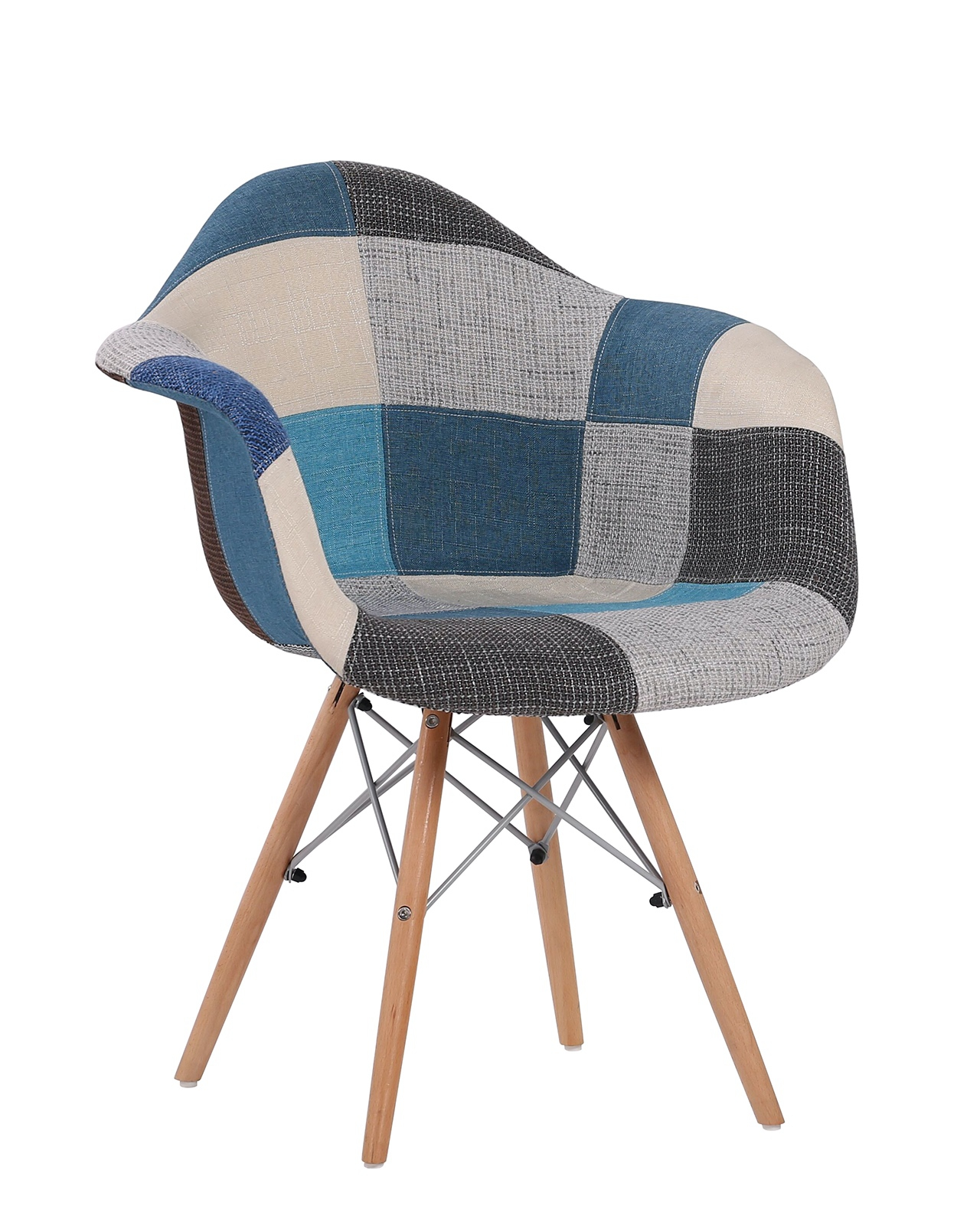 Chaise Design Patchwork Nador Lot De 2 Fauteuils Design Daw Rembourré