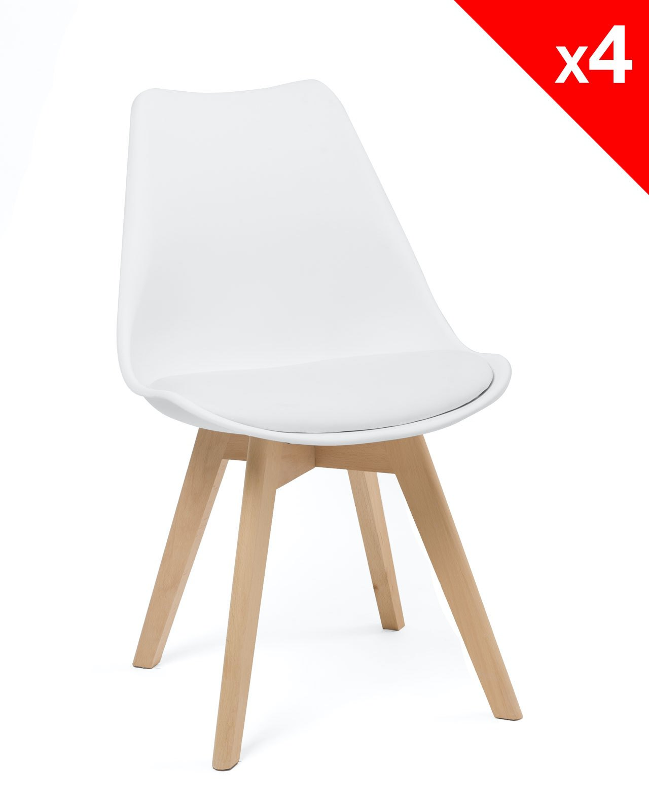 Chaise Scandinave Rembourree Lao Lot De 4 Chaises Scandinave Rembourrées