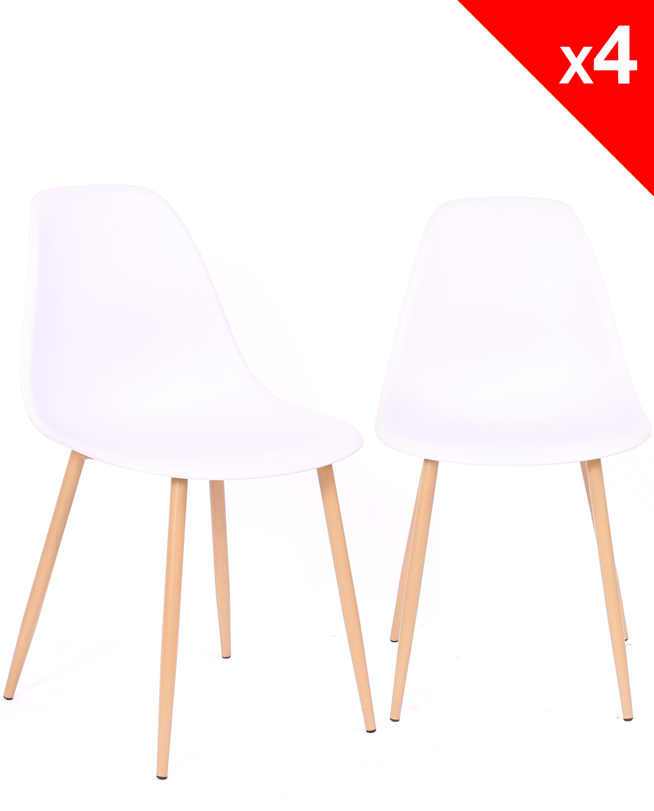 Lot Chaise Scandinave Nova Lot De 4 Chaises Scandinaves