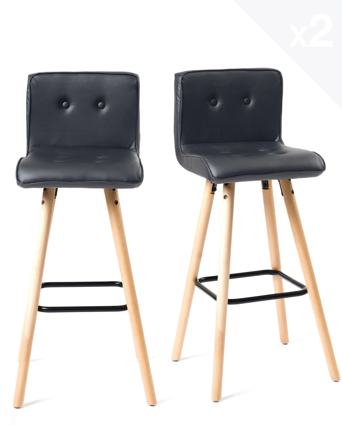 Chaise De Bar Bois Confort Et Large Assise Siwa Lot De 2 Kayelles Com