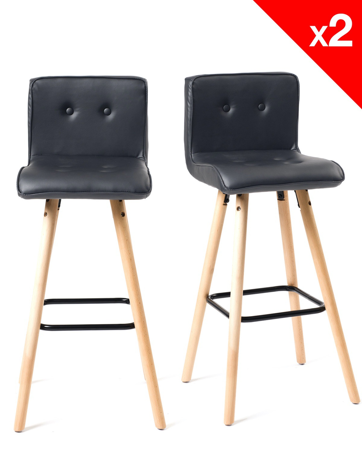 Chaise Bar Cuisine Siwa Lot De 2 Chaises De Bar Bois