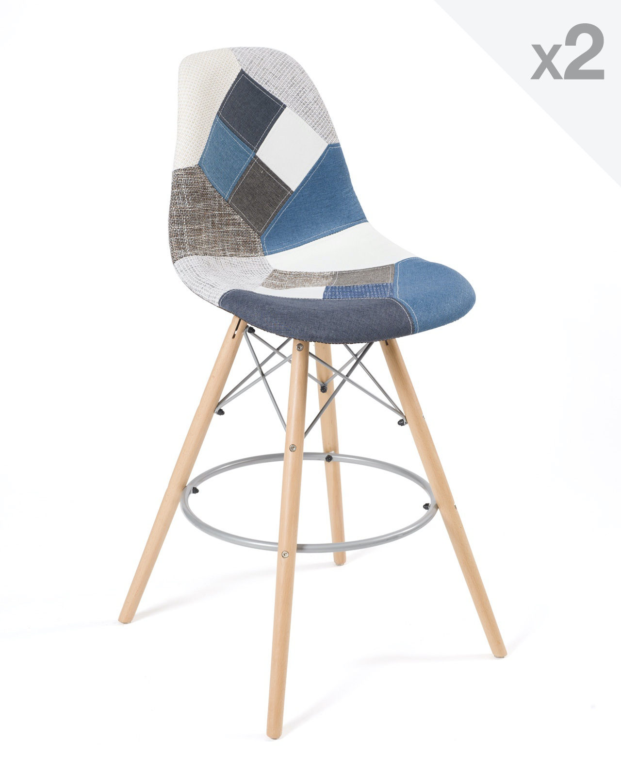 Tabouret De Bar Scandinave Patchwork Novocom Top