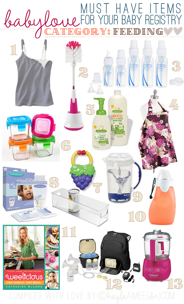 KA\u0027s List Of Must-Have Baby Registry Recommendations Feeding