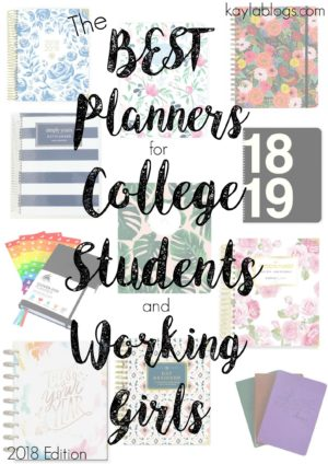 The Best Planners for College Students and Working Girls 2018 Edition