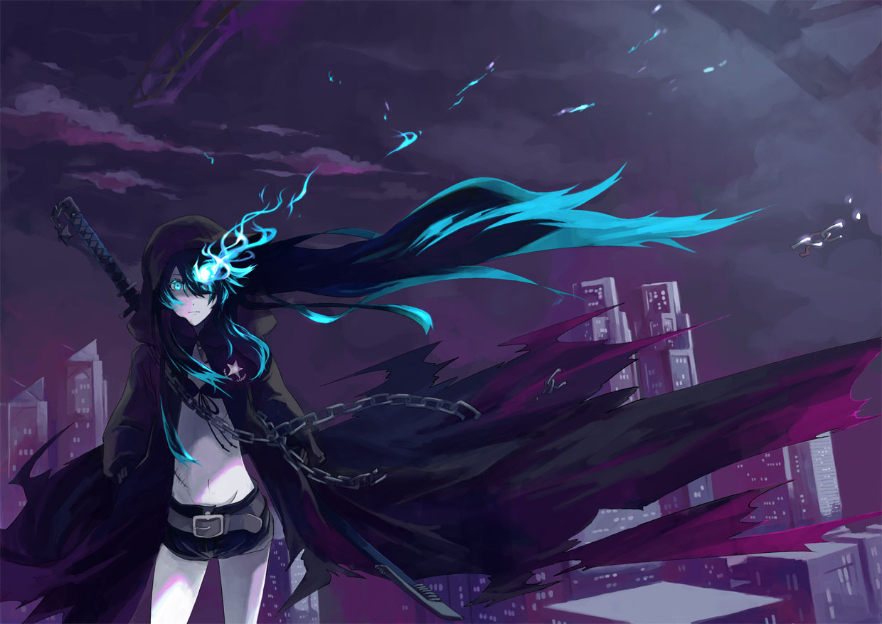 Live Wallpaper Girl Anime Black Rock Shooter Wallpapers Pack 16 04 12