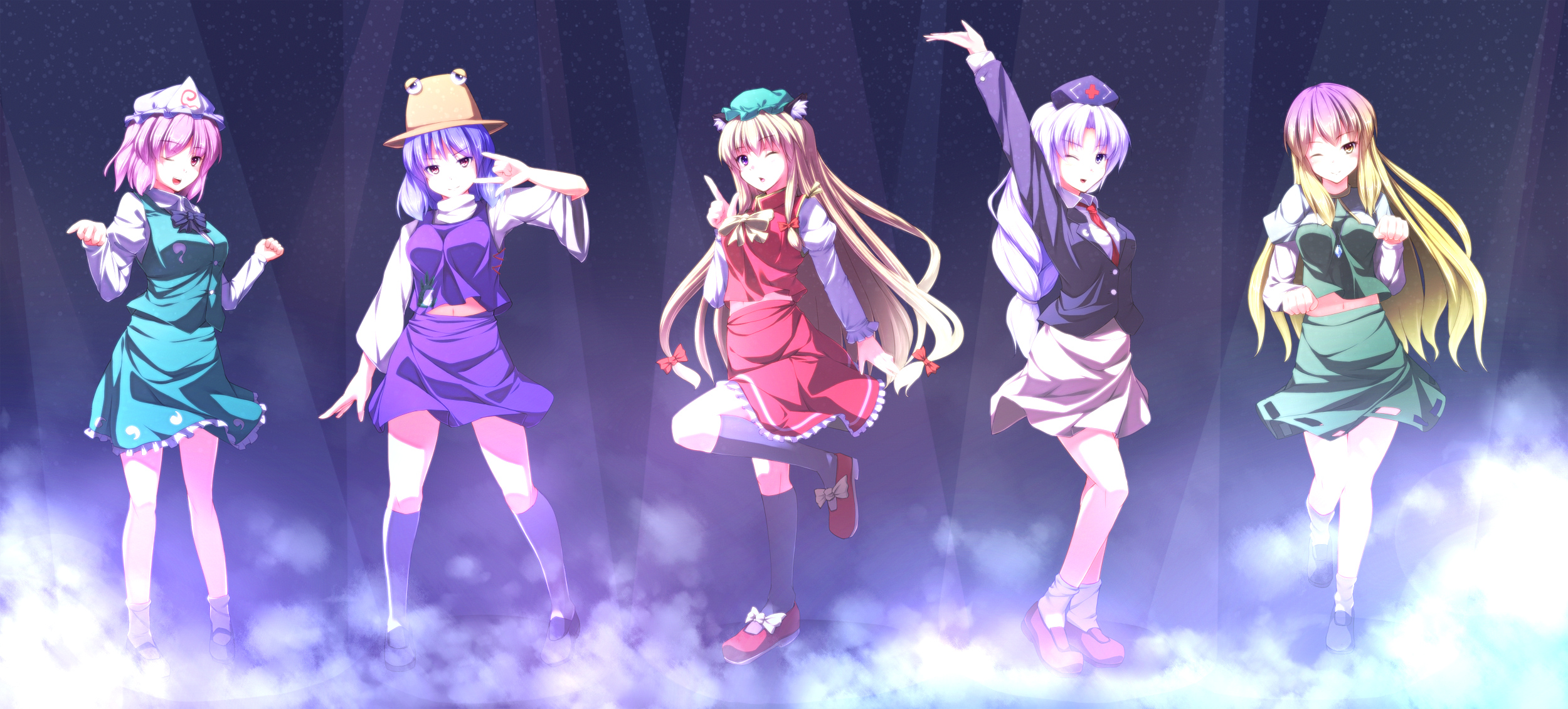 Pink Anime Wallpaper Touhou Wallpaper Pack 08 04 2012