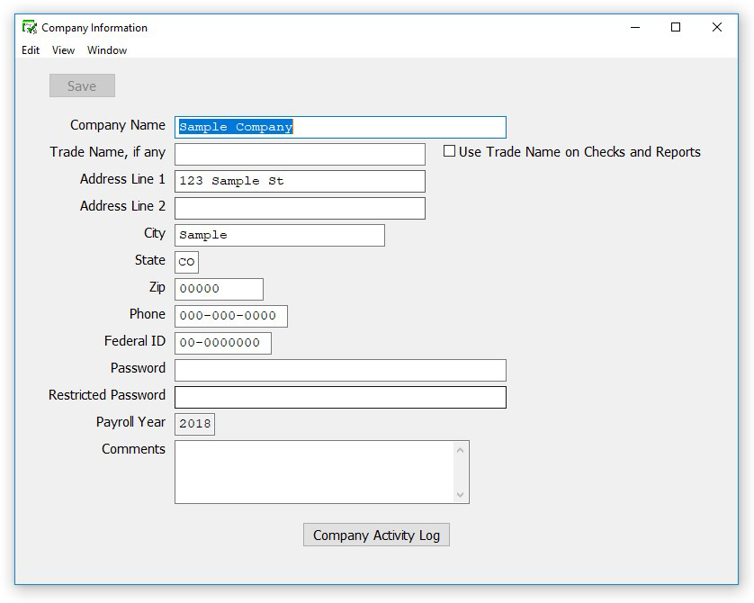 How to Enter Company Information in CheckMark Payroll - CheckMark