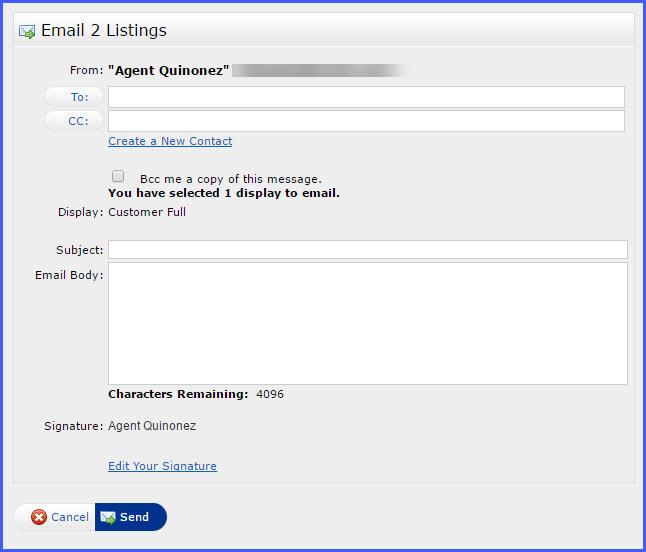 Emailing Listings in Matrix CRMLS Knowledgebase