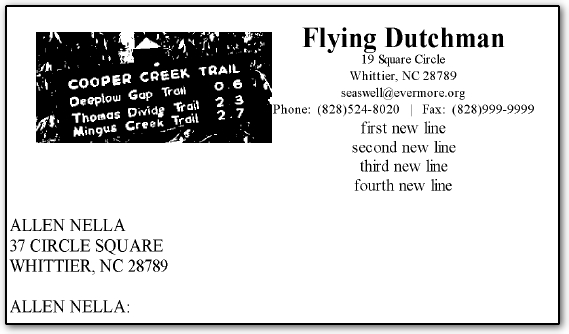 Bottom Lines of Letterhead Not Displayed - a letter head