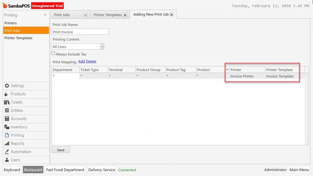 2314c How to Print Invoice and Dispatch Note? \u2013 SambaPOS