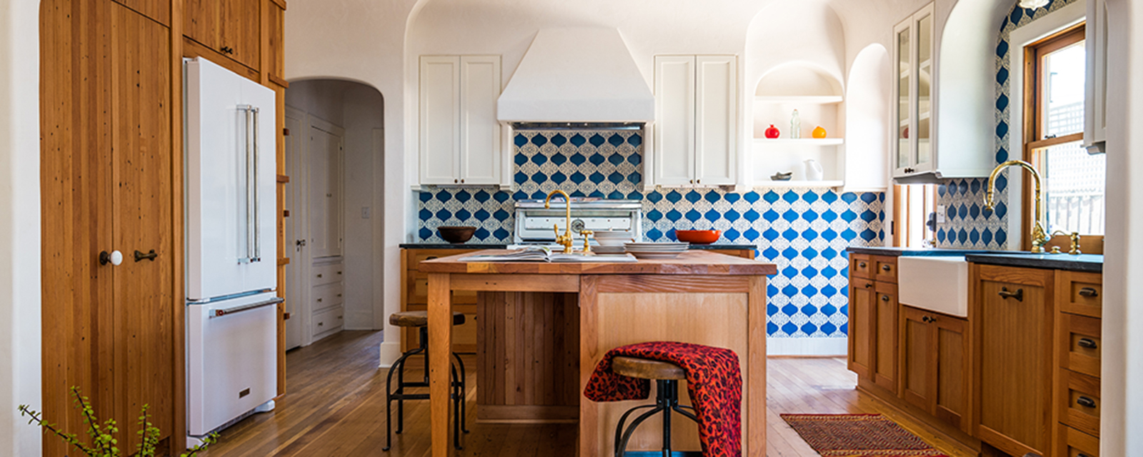 Small Enclosed Kitchen Design Moroccan Flair Kitchen Bath Business