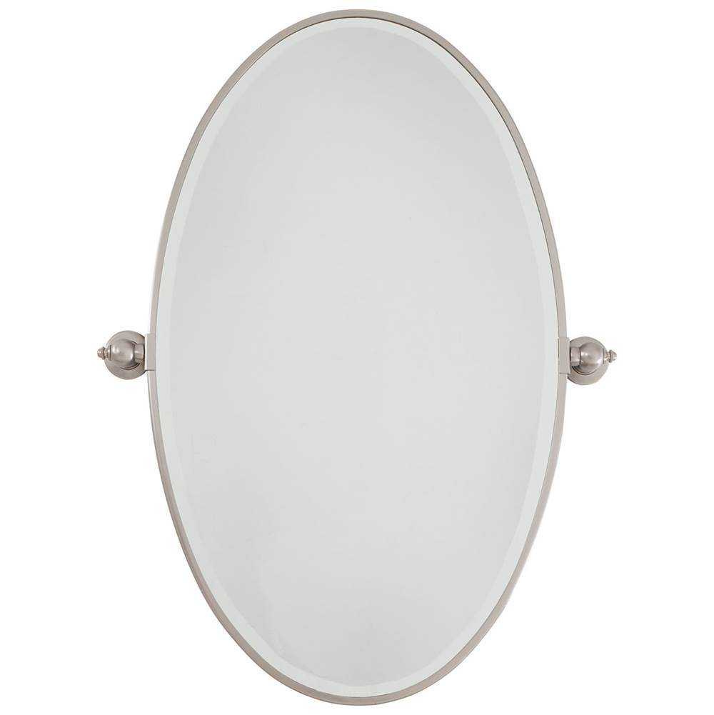 Decorative Brushed Nickel Mirror Minka Lavery 1432 84 At Kitchens And Baths By Briggs Bath
