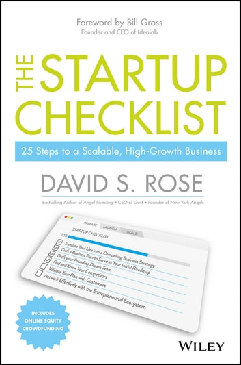 The Startup Checklist eBook by David S Rose - 9781119164043