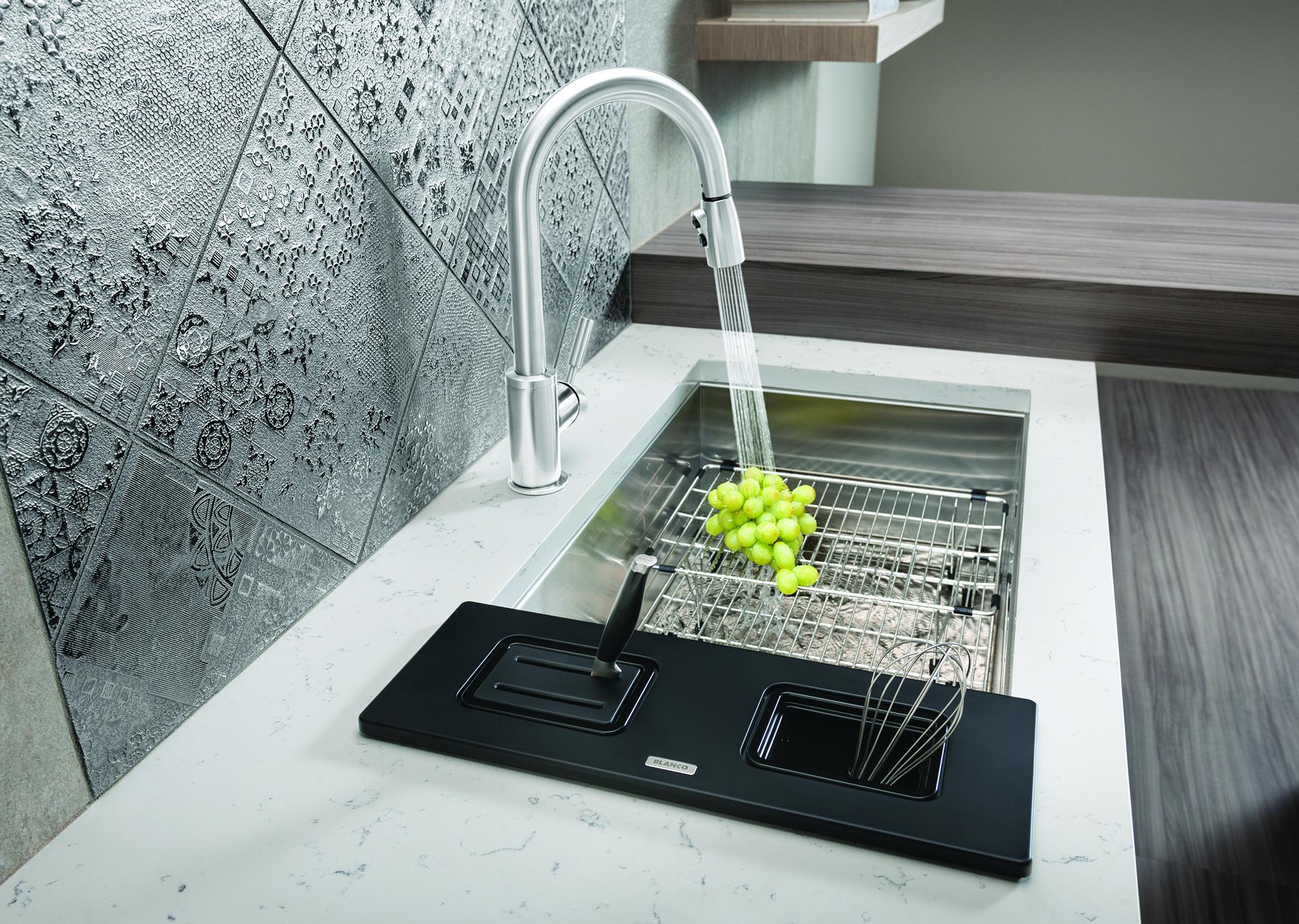 kitchen sinks designer kitchen sinks Blanco QUAT R0 SSING CA WB