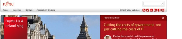 Fujitsu UK & Ireland tech blog website design
