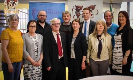 The committee and organisers of the 2016 Leinster Fleadh Ceoil. Photo via Paul Dargan/PaulDargan.com