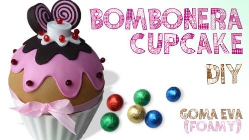 Bombonera Cupcake Goma Eva Foamy