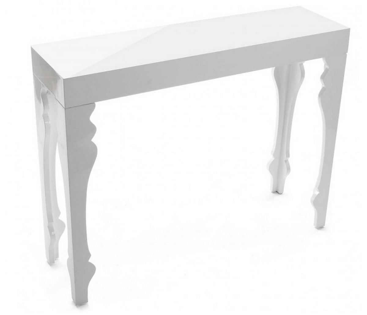 Table Blanche Table Console Blanche Baroque Bois Laqué Versa Kdesign