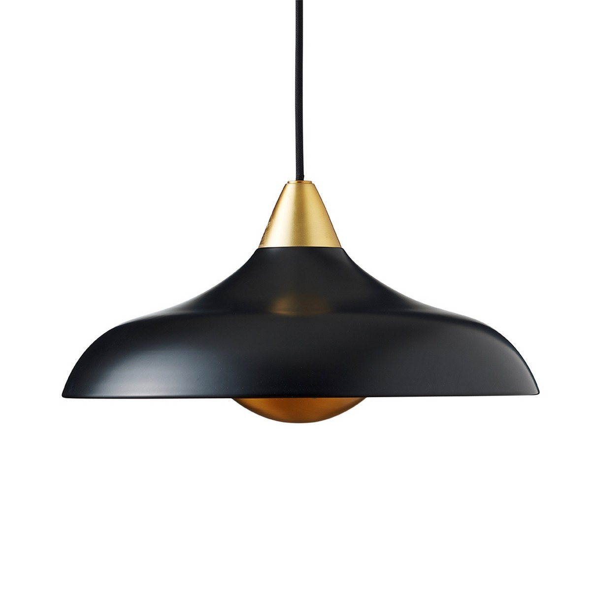 Suspension Noir Metal Suspension Ronde Design Metal Noir Laiton Superliving Urban Wide Kdesign