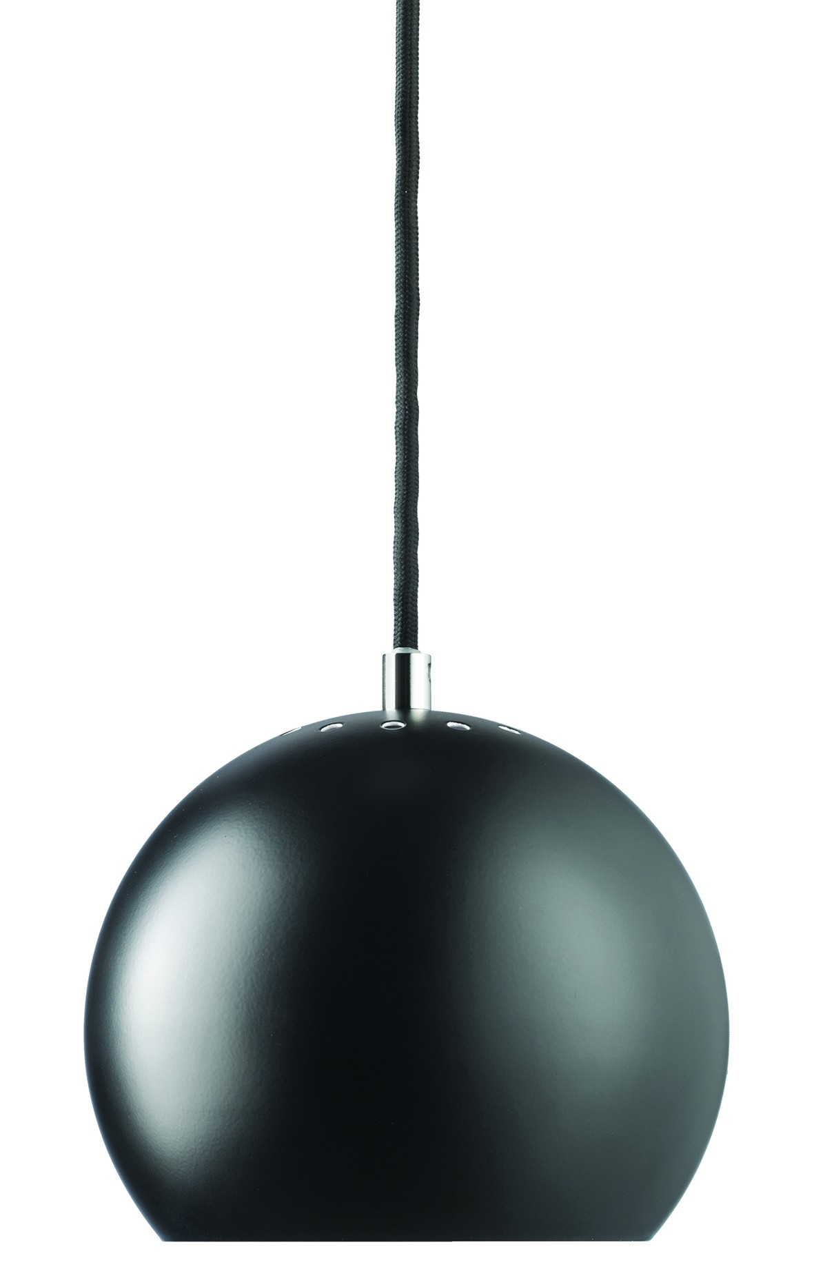 Suspension Noir Metal Frandsen Ball Hanging Lamp Suspension Black Matt Metal