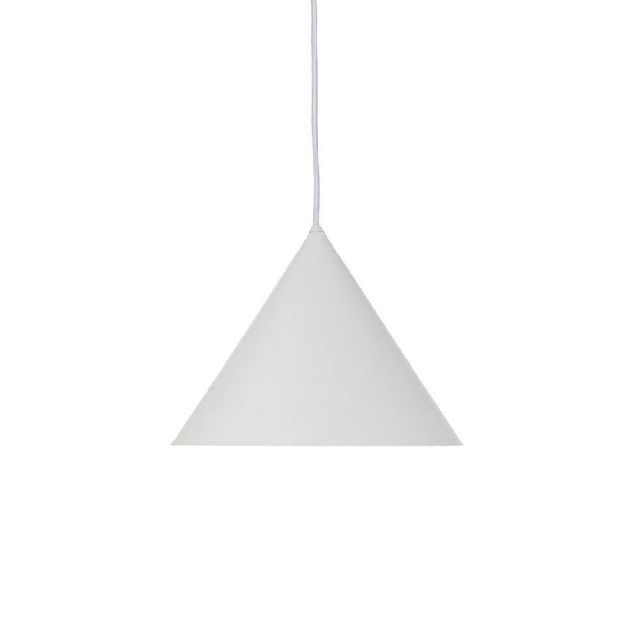 Suspension Blanche Suspension Blanche Conique Metal Design Frandsen Benjamin Kdesign