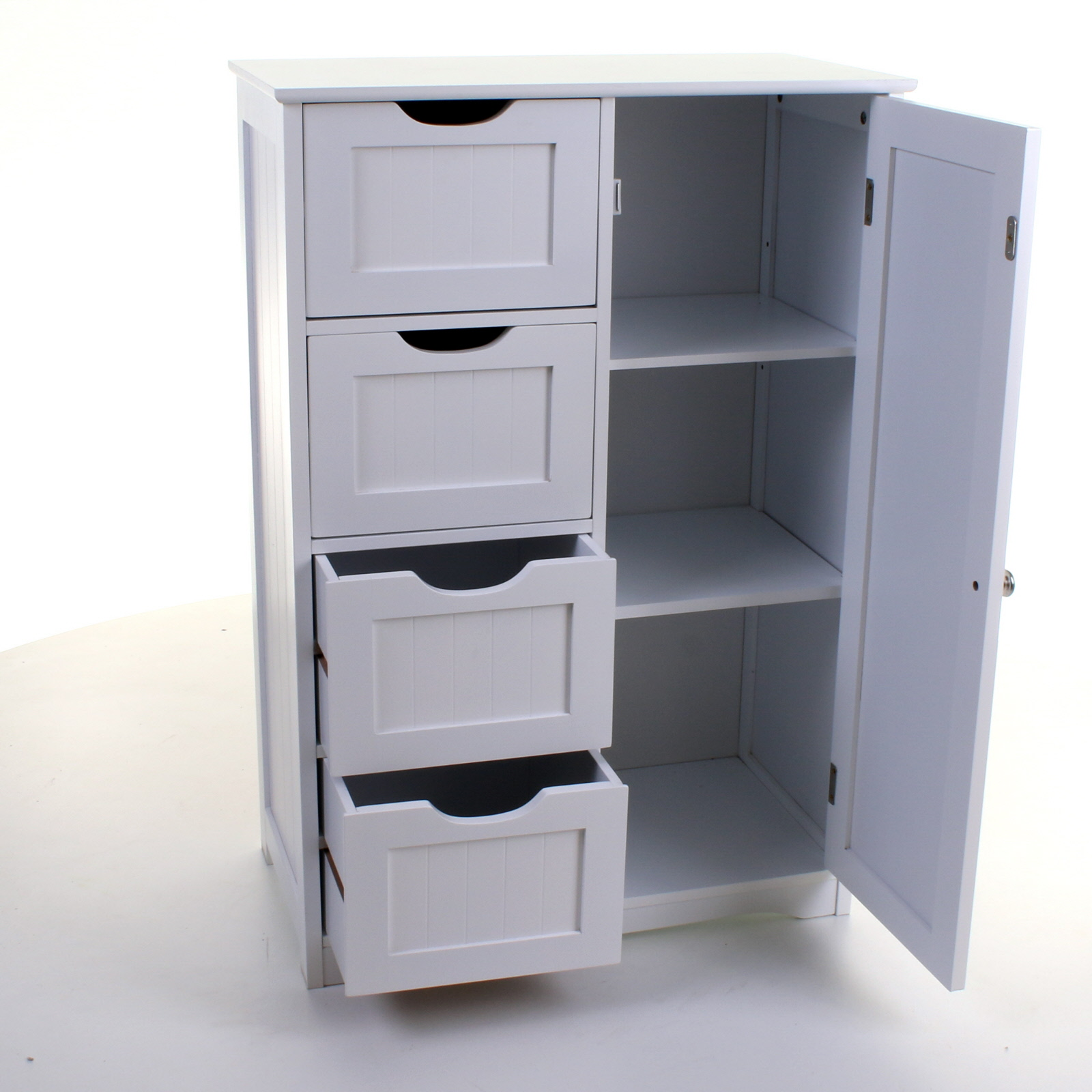 Drawer Units 4 Drawer Cabinet Bathroom Storage Unit Chest Cupboard