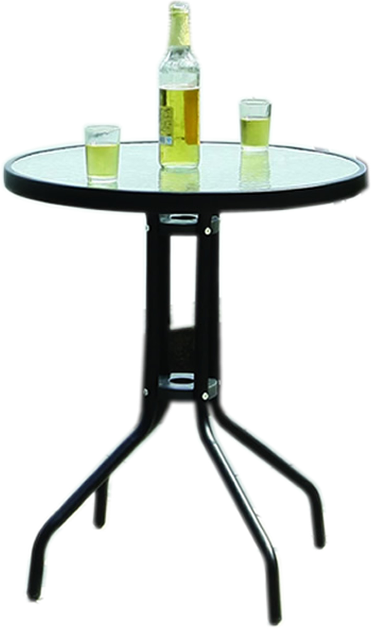 Glass Top Outdoor Table Black Metal Frame Bistro Table With Glass Tabletop Outdoor