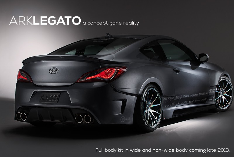 Ark S-FX Legato Rear Wide Body Kit Genesis Coupe 2010 - 2016  KDM