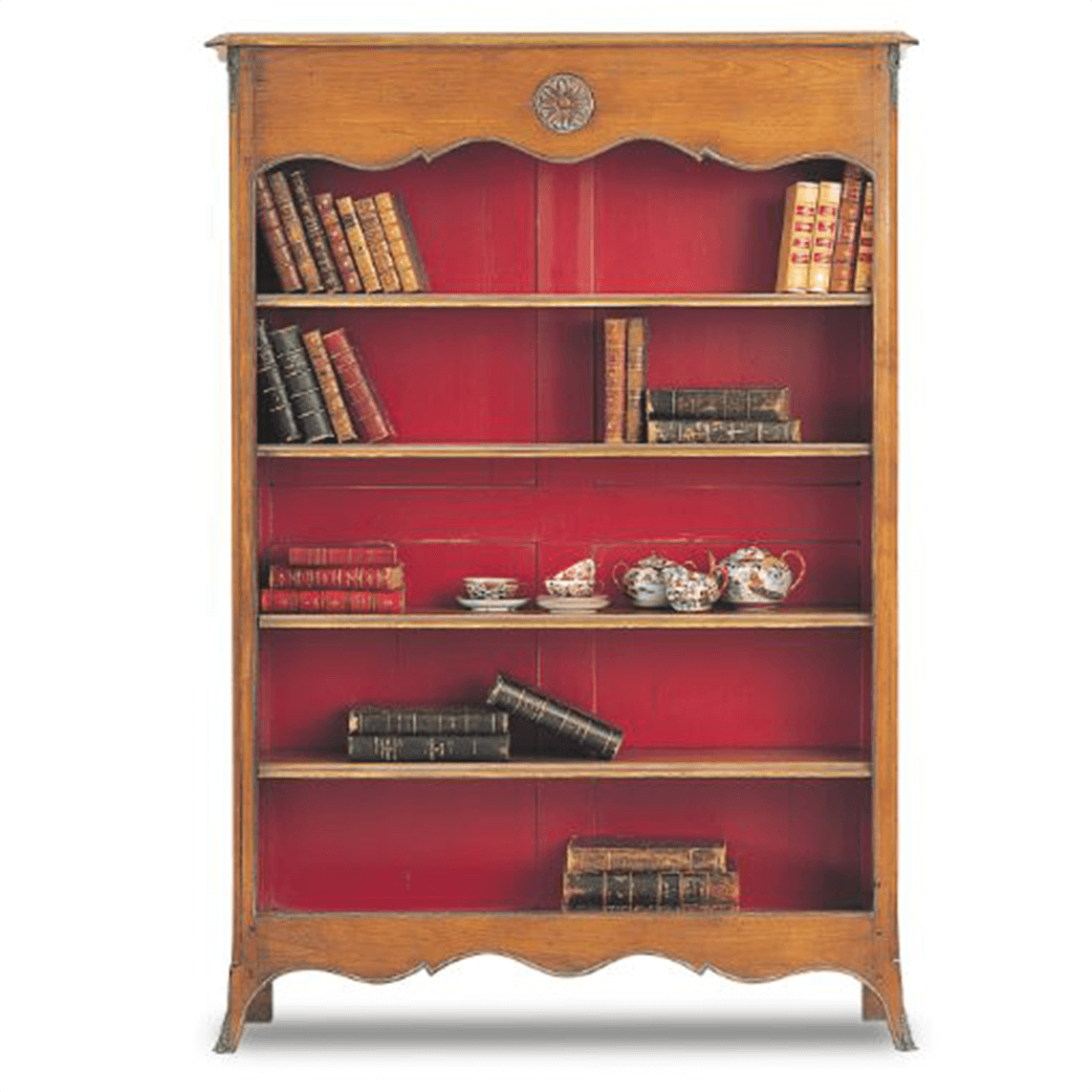 Vintage Bookcase Rouge French Bookcase