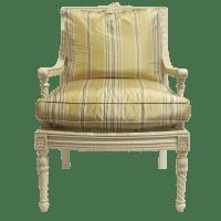 Louis XVI Style Square Back Arm Chair - KDRShowrooms.com