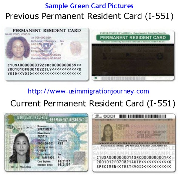 Permanent Resident Card Renewal Renew A Green Card Uscis Permanent Resident Card Sample Imgkid The