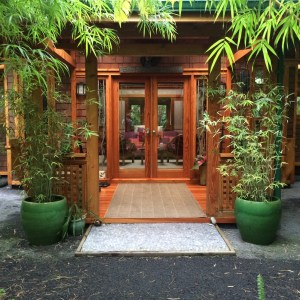 Entrance to our house - the Bamboo Guest House