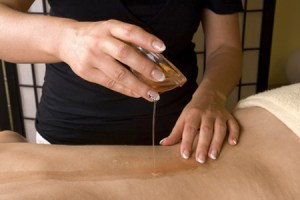back oil spa therapy