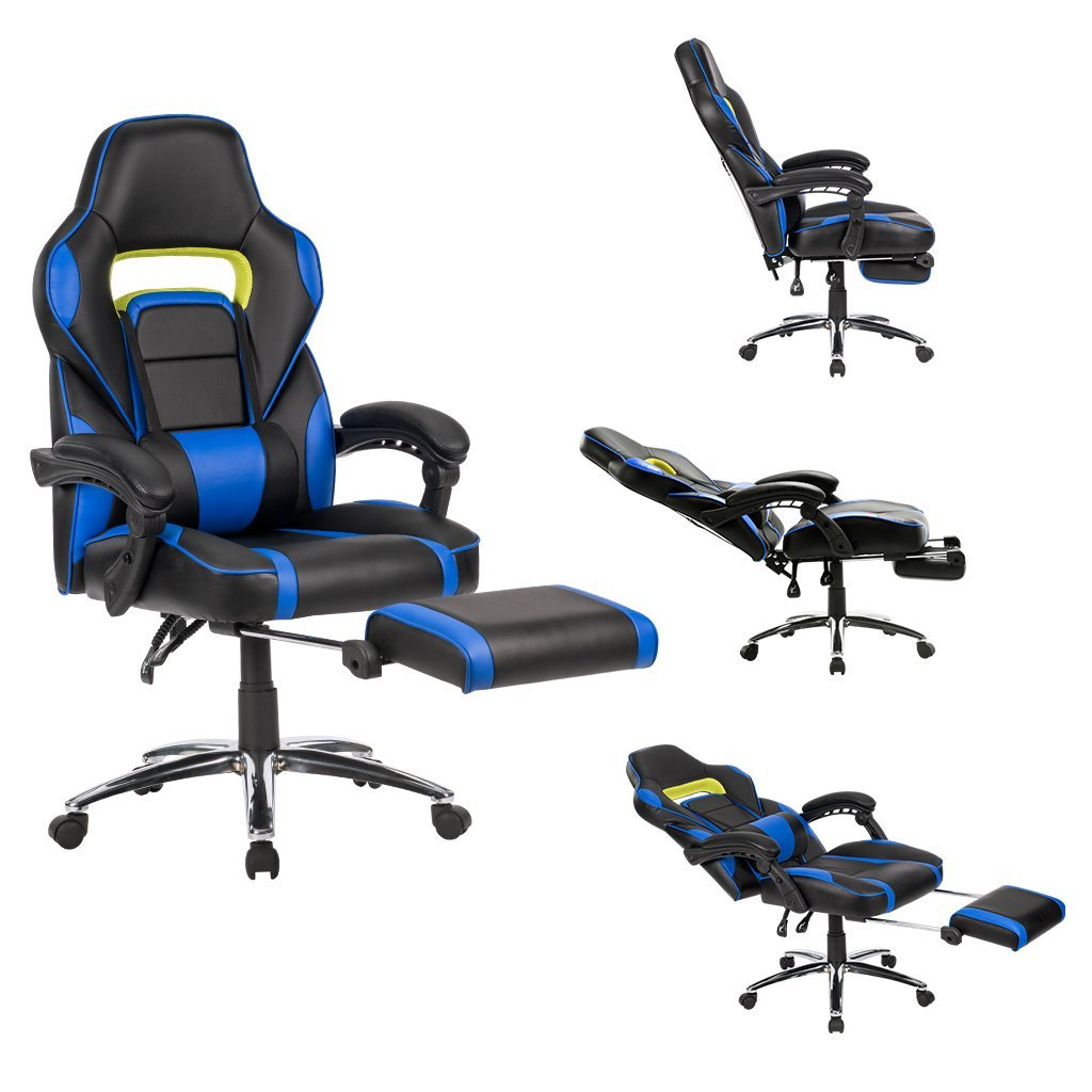 Sillas Escritorio Amazon Silla De Escritorio Gaming Langria Con Reposapiés Por 111