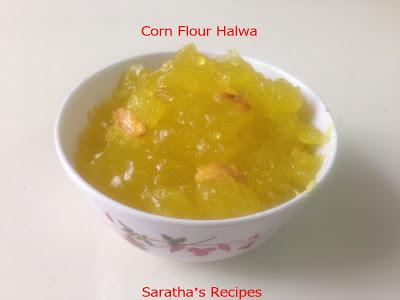 சோளமாவு அல்வா / Corn Flour Halwa – 300 வது பதிவு