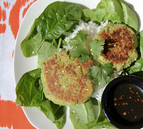 Scallops with Edamame Pancakes & Soy Drizzling Sauce