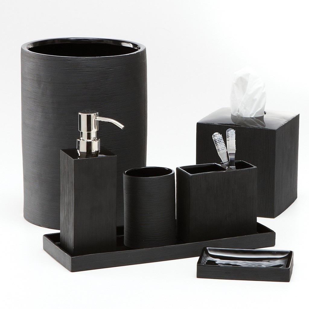 Badezimmer Accessoires Porzellan Black Bathroom Accessories