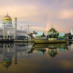 SOAS Mosque at dusk in Brunei | Photo credit: Jonathan Evans